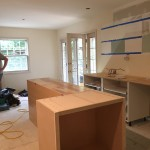 Kitchen island and Ikea cabinets